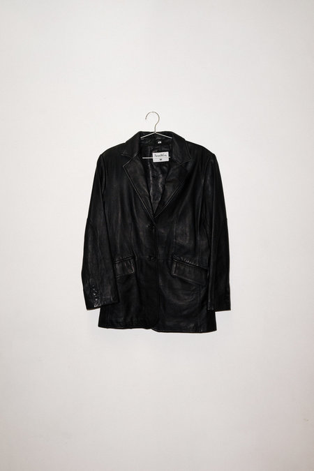Vintage Leather Jacket - Black