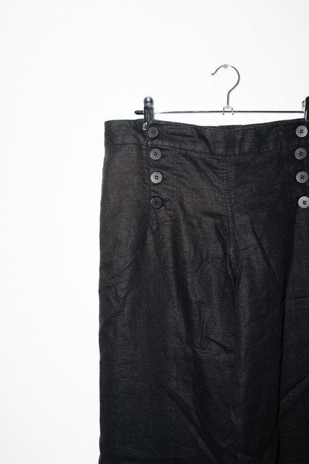 Vintage Linen Trousers - Black