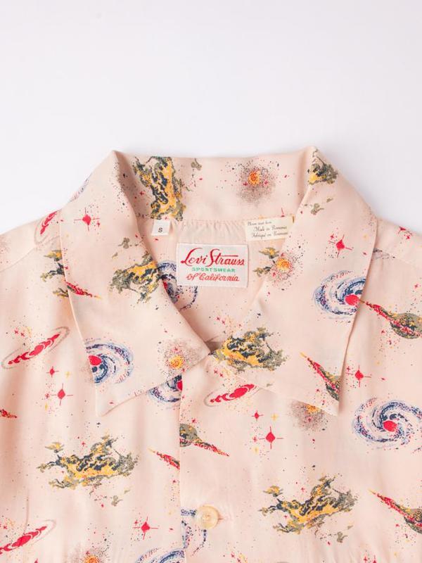 11f8d283 Levi's Vintage Clothing 1940's Hawaiian Shirt - Universe Beige ...