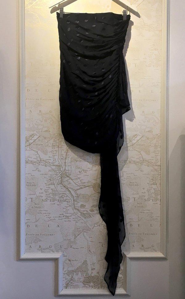 69331860f336f Michelle Mason Ruched Strapless Polka Dot Dress | Garmentory