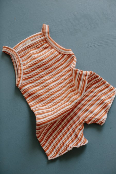 Kids Millk Weekly Onesie Romper - Orange Stripe