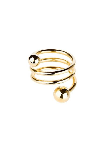 Maria Black Body Double Spiral Ring
