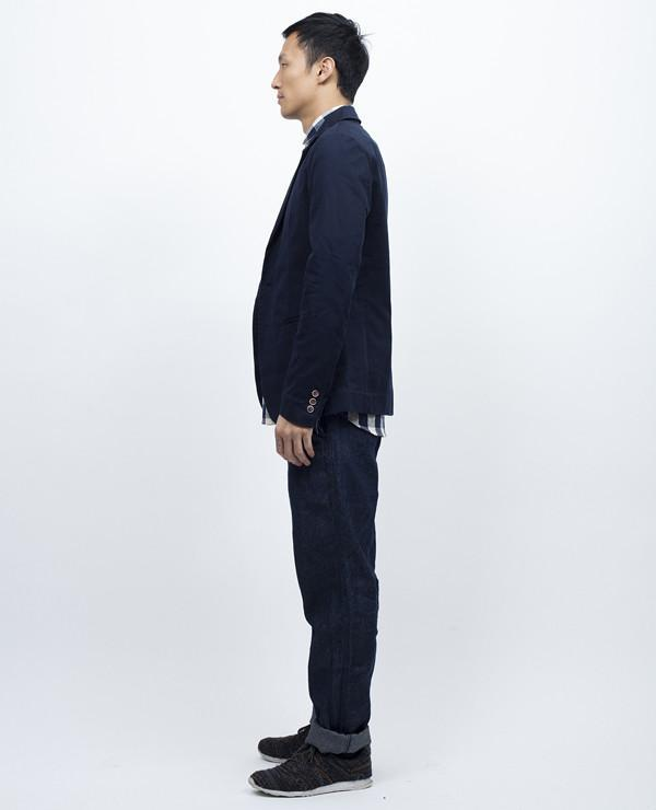 General Assembly Sun Washed Chino Blazer Navy Garmentory