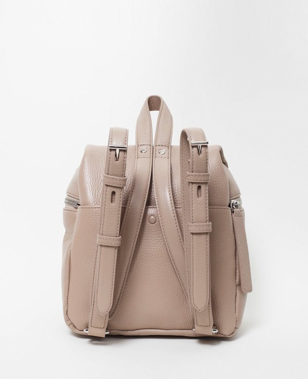 585e7c76fc KARA Small Pebble Leather Backpack   Taupe. sold out