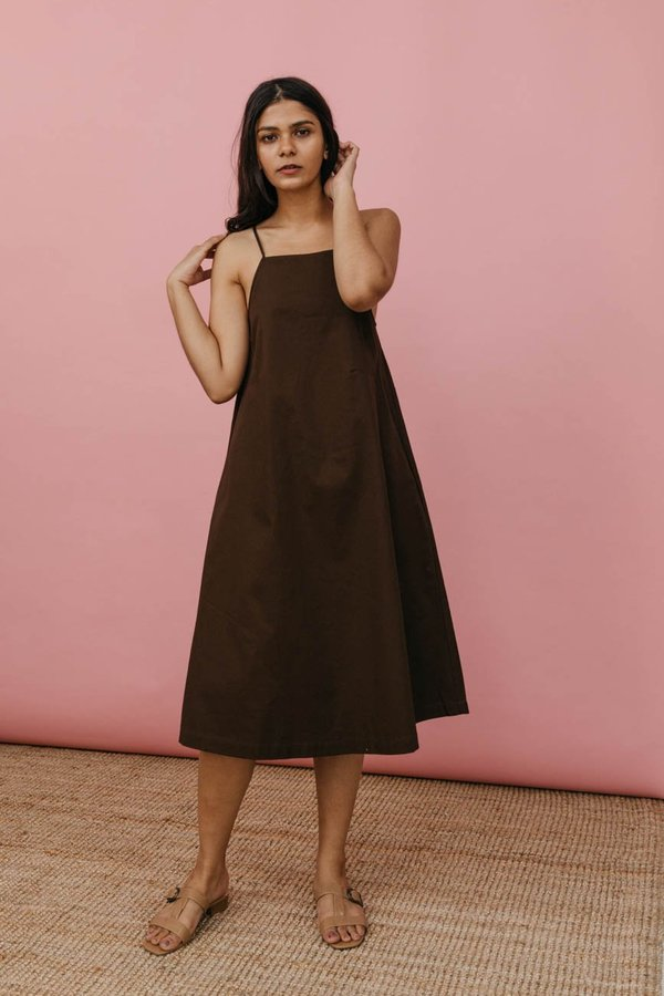 Wolcott : Takemoto Joni Dress In Mesquite Cotton