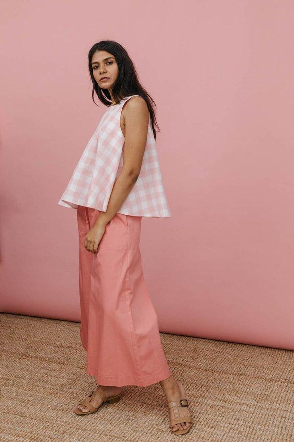 Wolcott : Takemoto Yayoi Pant in Pink Cotton