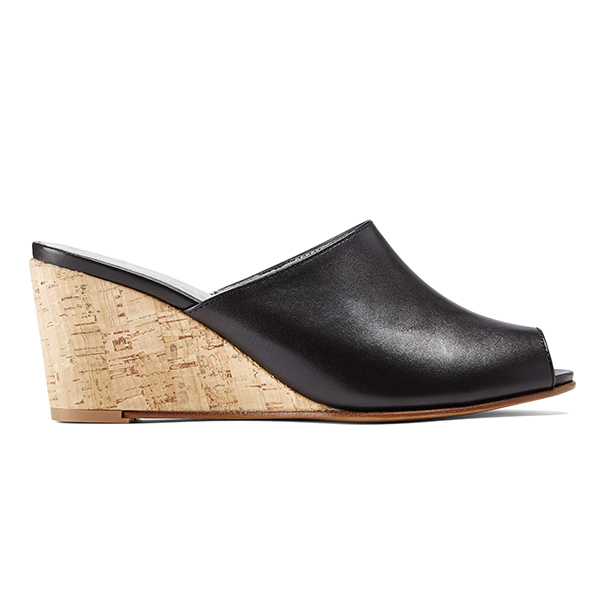 Opsops No15 Wedge Mules Classic Black Garmentory