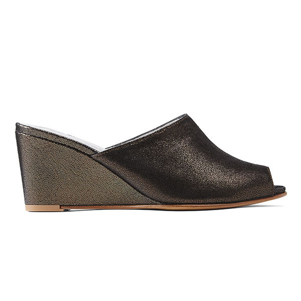 Opsops No15 Wedge Mules Black Granite Garmentory