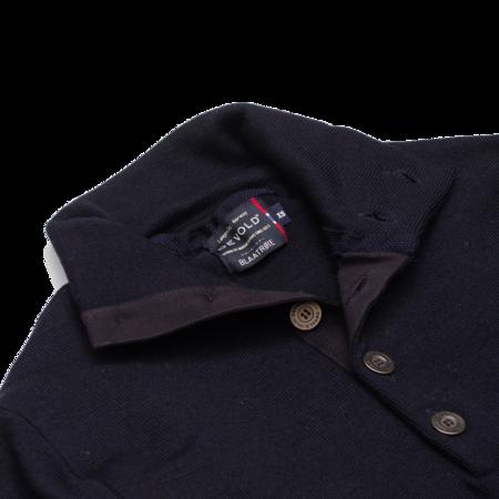 Unisex Devold Blaatroie Button Neck Sweater - Deep Marine