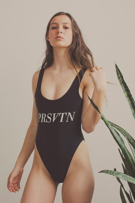 Private Party Prsvtn One Piece Swimsuit - Black