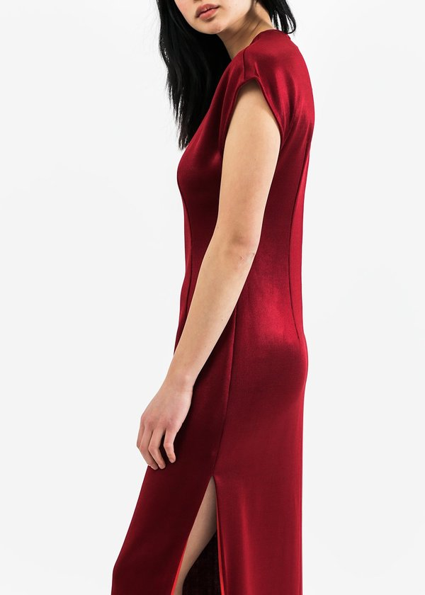 Suzanne Rae Jersey Dress With Slit