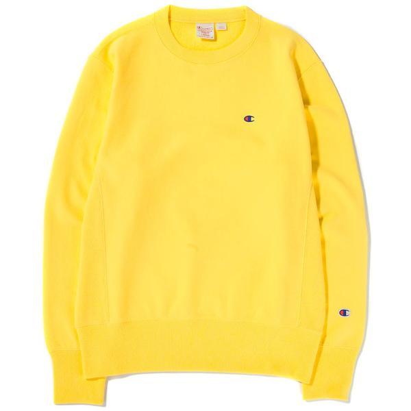 9aed300c Champion Reverse Weave Crewneck Sweatshirt / Yellow | Garmentory