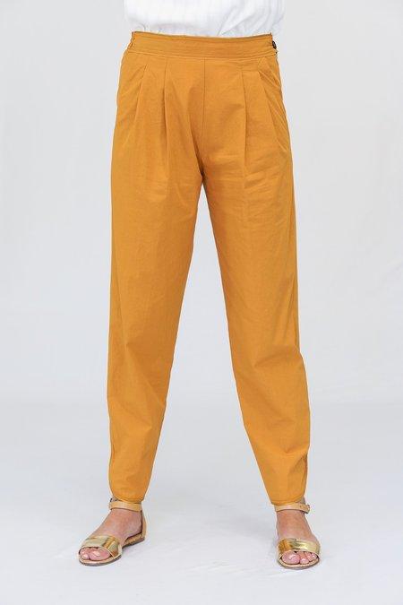Giada Forte High Waist Crop Poplin Pants - Saffron