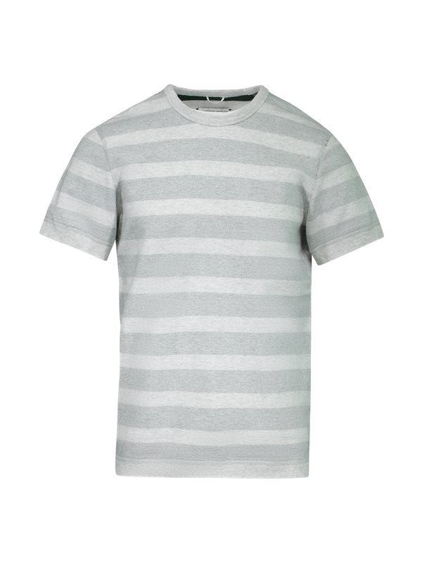 f26c75554d Reigning Champ Terry Knit Striped Short Sleeves Reversible Crewneck T- SHirt  - Gray