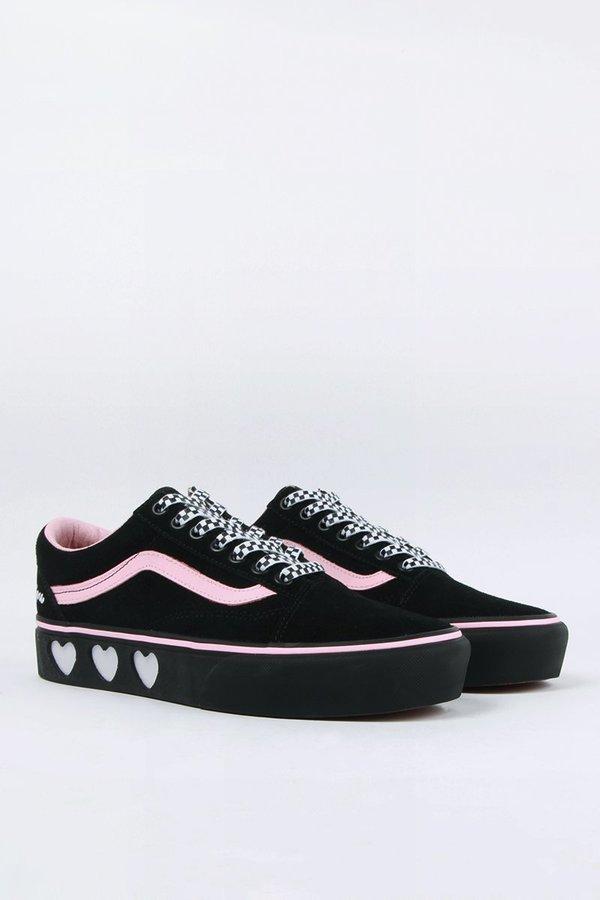 6b643975ec7 Vans X Lazy Oaf Old Skool Platform Shoes - Black