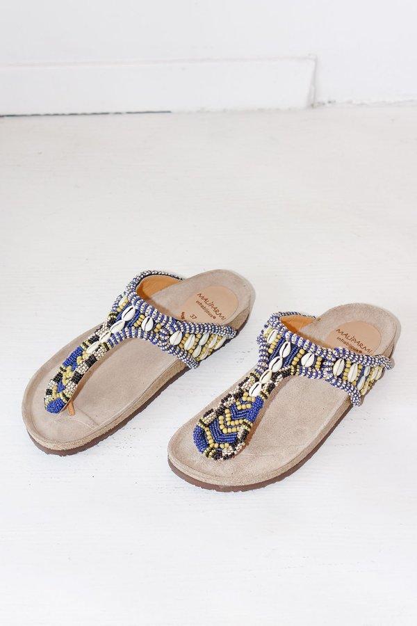 cb017a969f76 Maliparmi Hand Beaded Sea Heart Leather Toe Sandals. sold out. Maliparmi