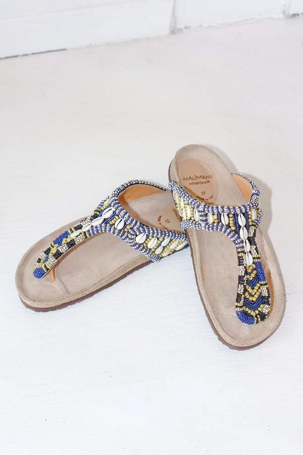 4a076588e74b Maliparmi Hand Beaded Sea Heart Leather Toe Sandals