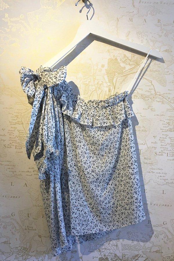 11c15bd2d36 Ulla Johnson Alene Printed Cotton One Shoulder Top - floral   Garmentory