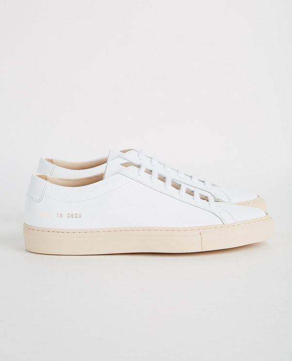 46f6914b8fa9 Common Projects Achilles Low Colored Sole Sneakers - White