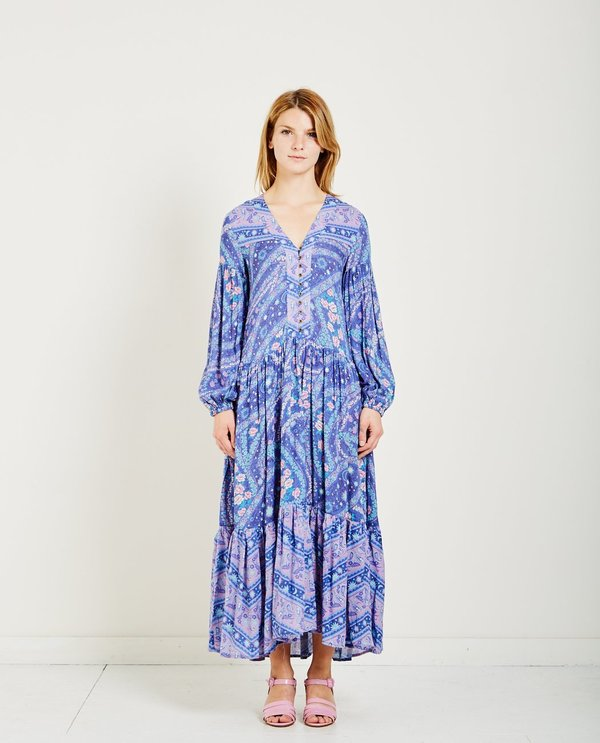 SPELL & THE GYPSY CITY LIGHTS GOWN - INDIGO | Garmentory