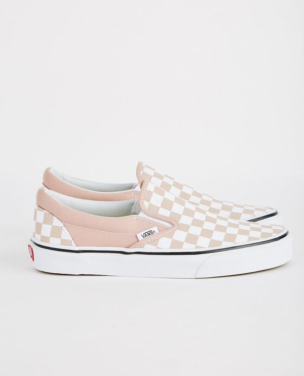 4e3bfbc591f VANS CLASSIC SLIP-ON CHECKERBOARD - MAHOGANY ROSE