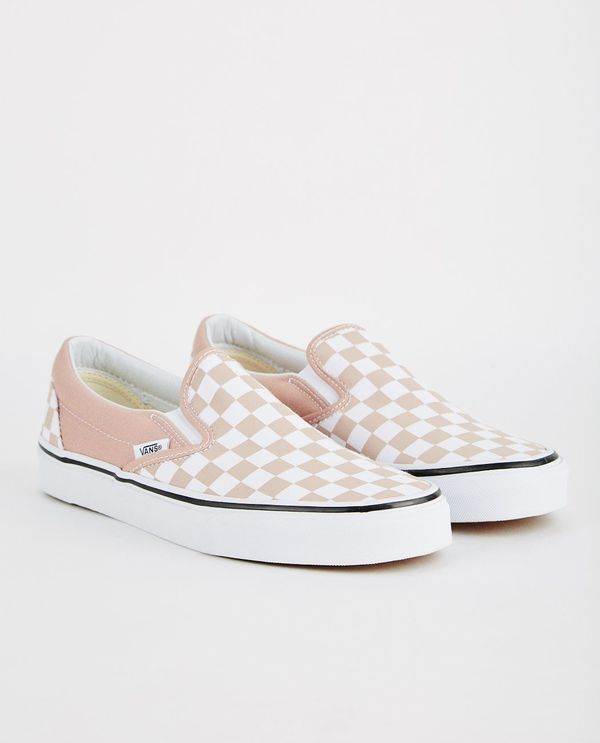 602089ee059 VANS CLASSIC SLIP-ON CHECKERBOARD - MAHOGANY ROSE
