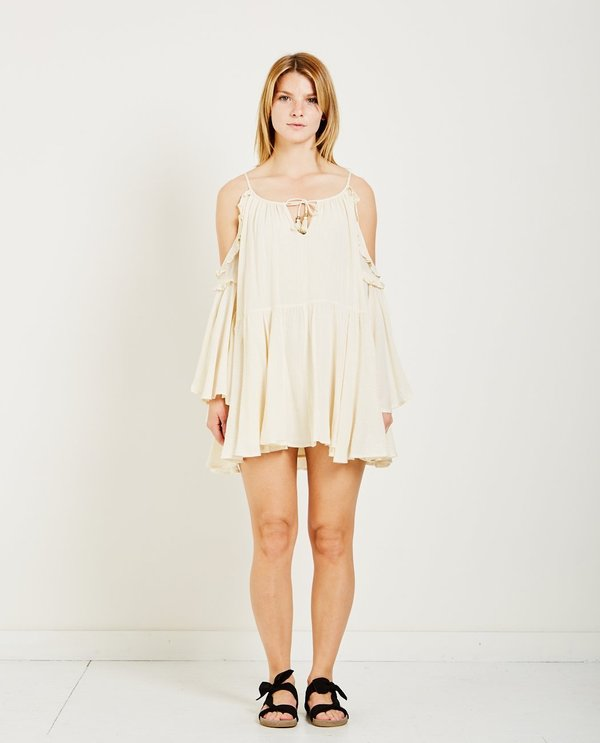 443f8380ba SPELL   THE GYPSY FLORENCE MINI DRESS - CREME BRULEE