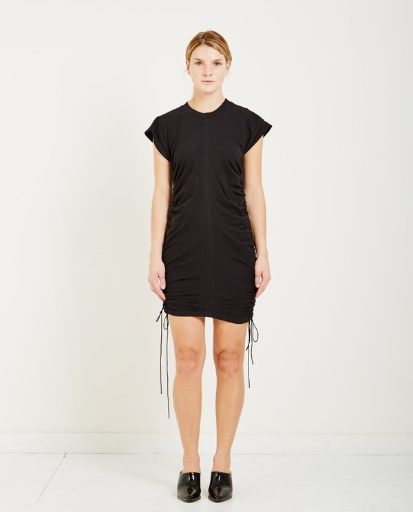 High Twist Jersey Mini Dress in Black Alexander Wang TfSza