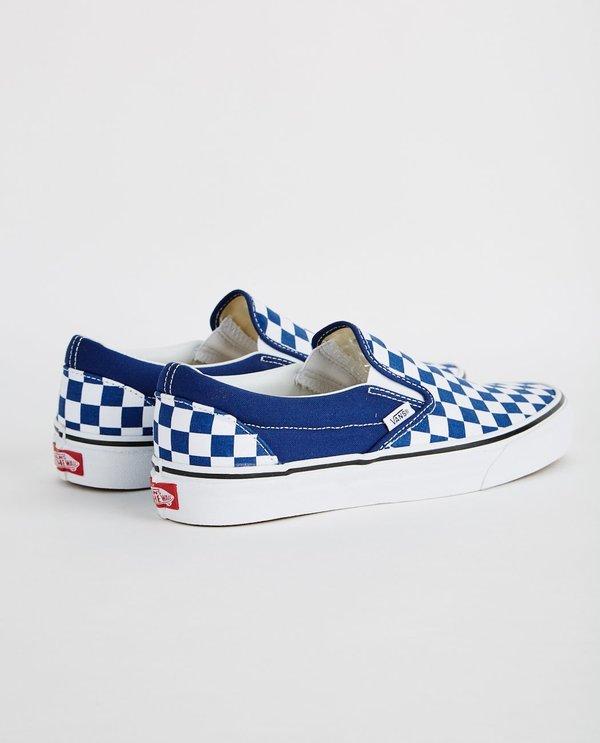 VANS SLIP ON CHECKERBOARD ESTATE BLUE