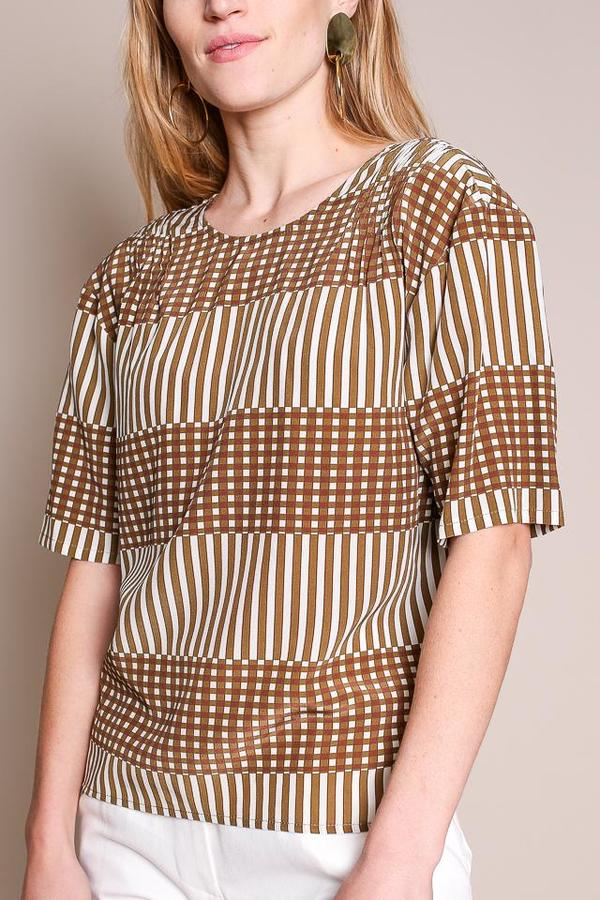 No.6 Isla Pleated Top