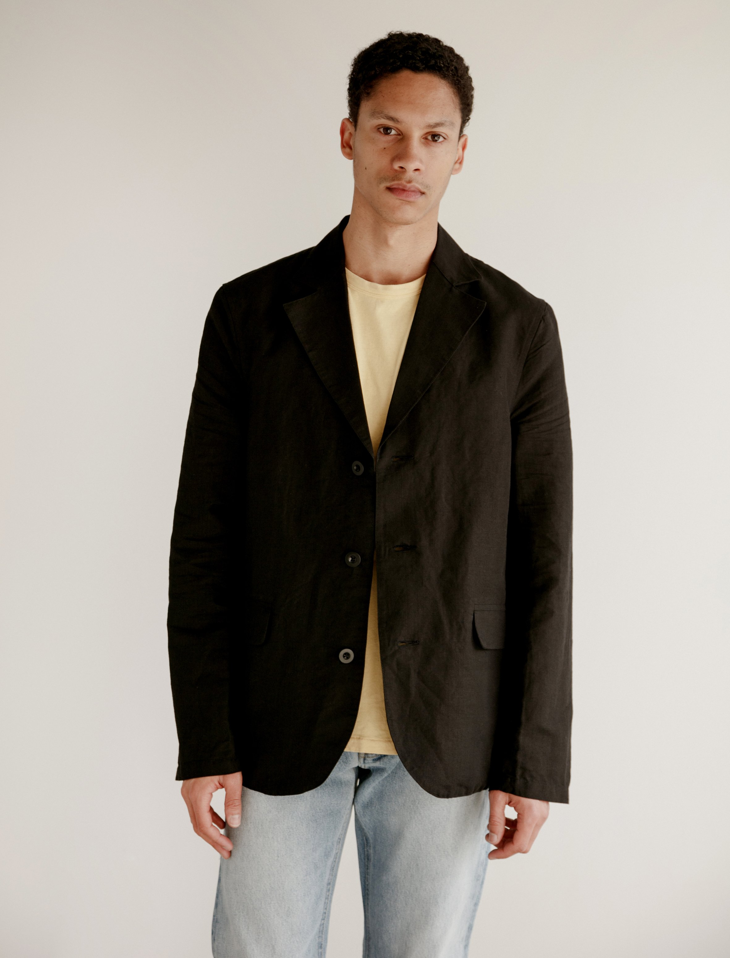 73538c6156905 Our Legacy Archive Cotton Linen Blazer - Washed Black   Garmentory
