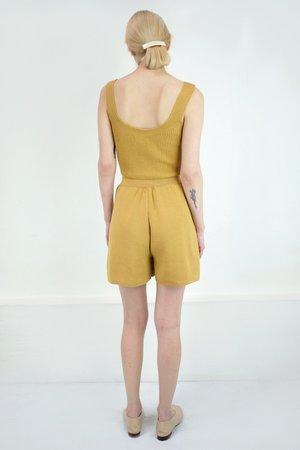 Micaela Greg Pleated Knit Short