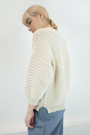 Micaela Greg Roll Rib Sweater