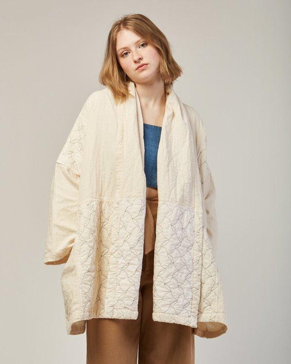 Atelier delphine haori coat quilted - kinari white