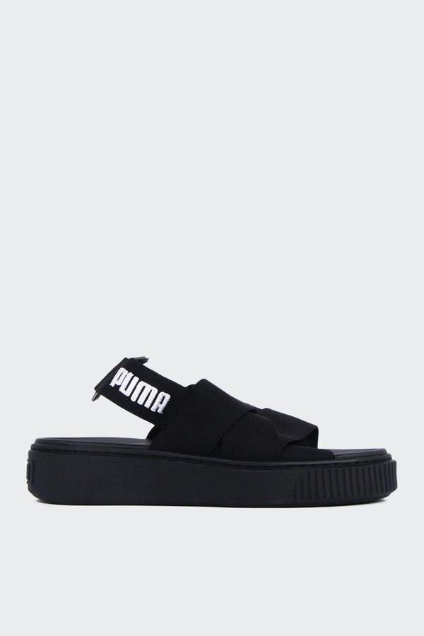 83da81d1b39 Puma Womens Platform Sandal - black