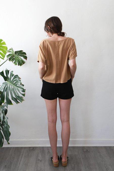 Me & Arrow Shorts - Black Cotton