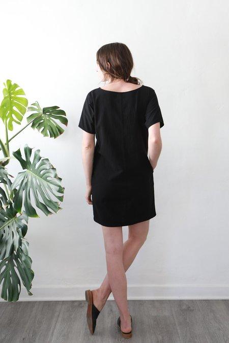 Me & Arrow Sleeve Dress - Black Cotton