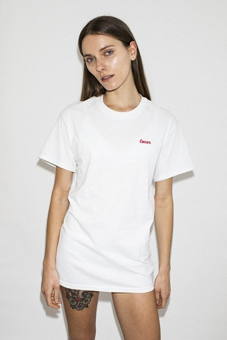 Double Trouble Gang Lover Embroidered T-shirt - White