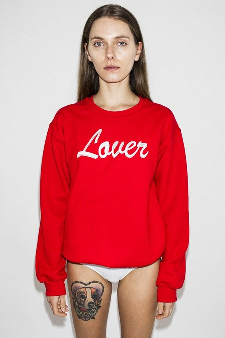 Double Trouble Gang The Lover Embroidered Jumper – Red