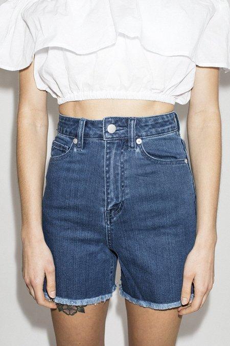 L'ecole Des Femmes High Waisted Shorts - Light Wash