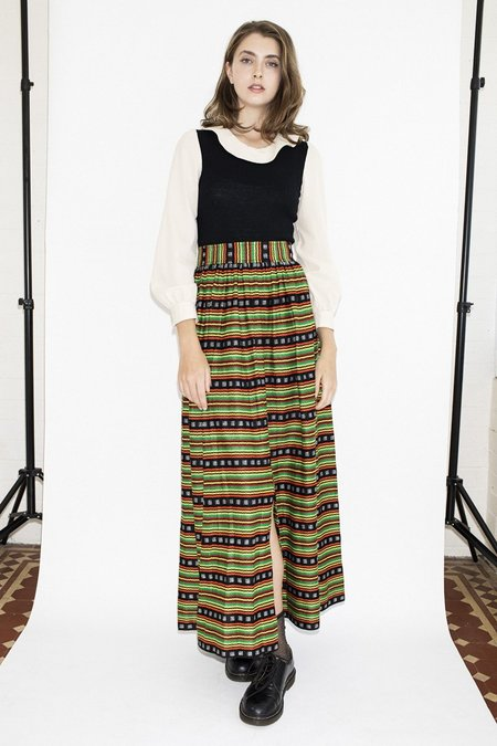 Vintage Love Cult Maxi Knit Dress - Black