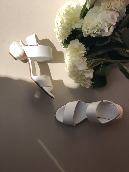 Gray Matters Marmo White Slingback Sandals