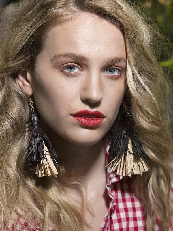 Folk Fortune Raffia Tassel Earrings