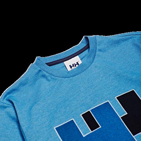 Unisex Helly Hansen HH Logo Tee - Melange Blue