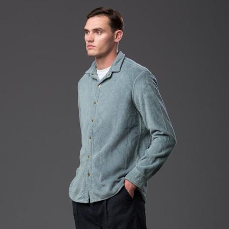 ADAM MAR Montauk Oxford Shirt - Stone Blue
