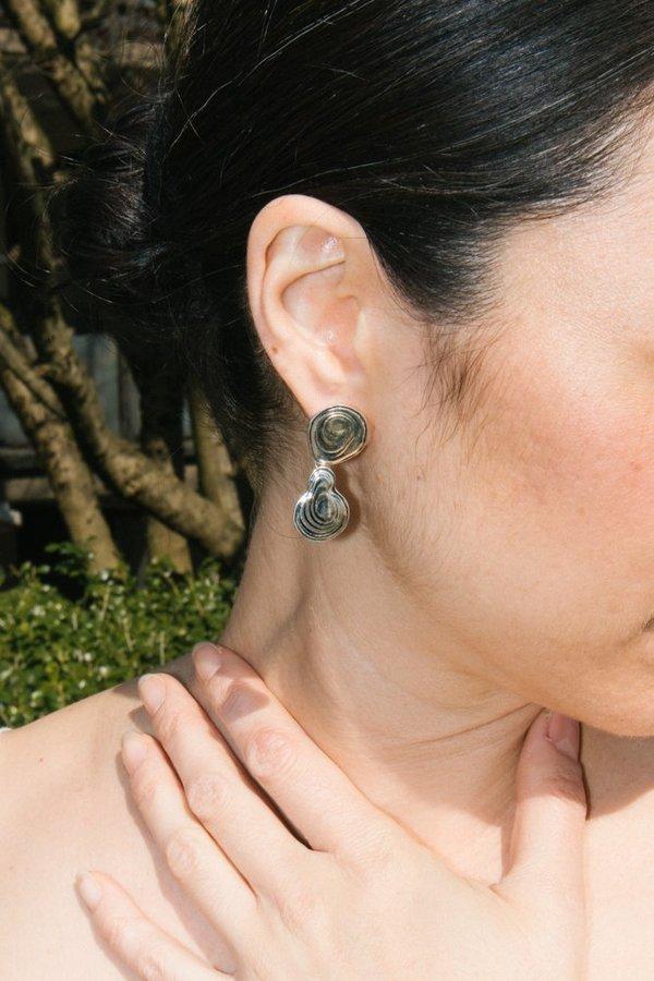ce69002d0 Leigh Miller Double Drop Earring - Silver   Garmentory