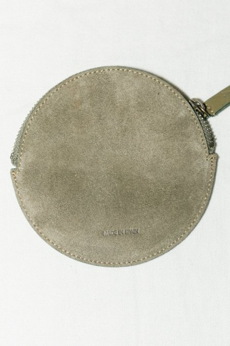 VereVerto Mon Coin Pouch - Ivory/ Sage/ Cedar Suede