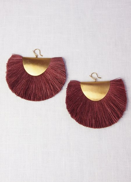 Hazel Cox Arkansas Fan Earrings
