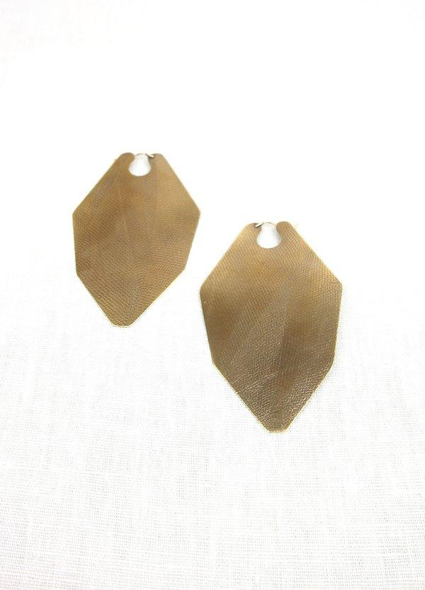 Lila Rice Gem Hoop Earrings