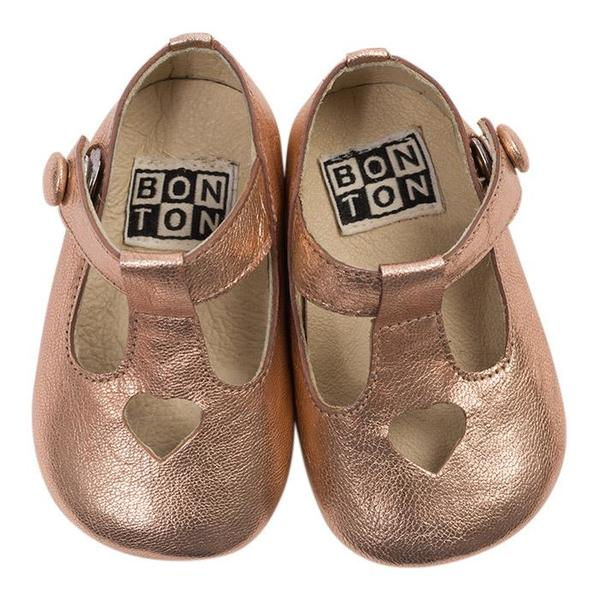 ded42f65 Kids Bonton Baby Leather Shoes - Pink | Garmentory